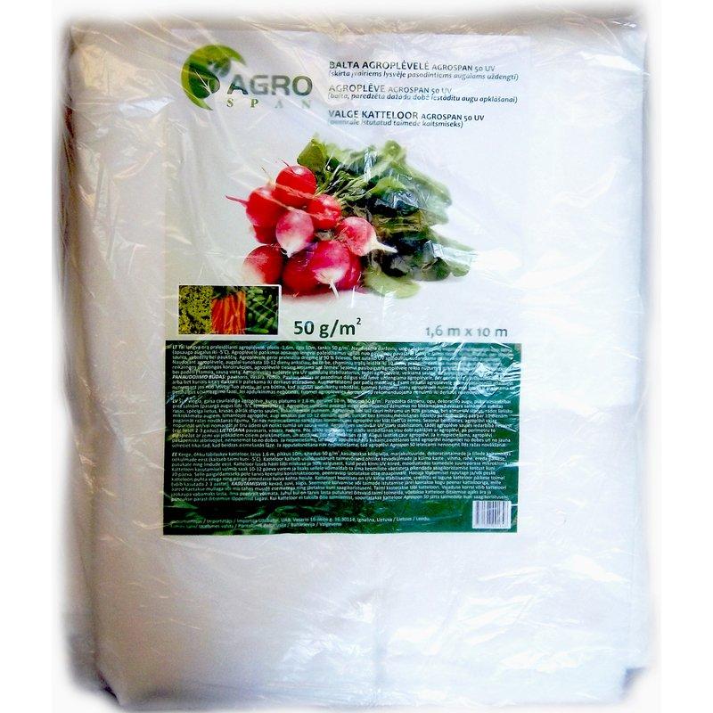 Agroplėvelė, stabilizuota 50 g/m2 | plotis 1,6 m, ilgis 10 m