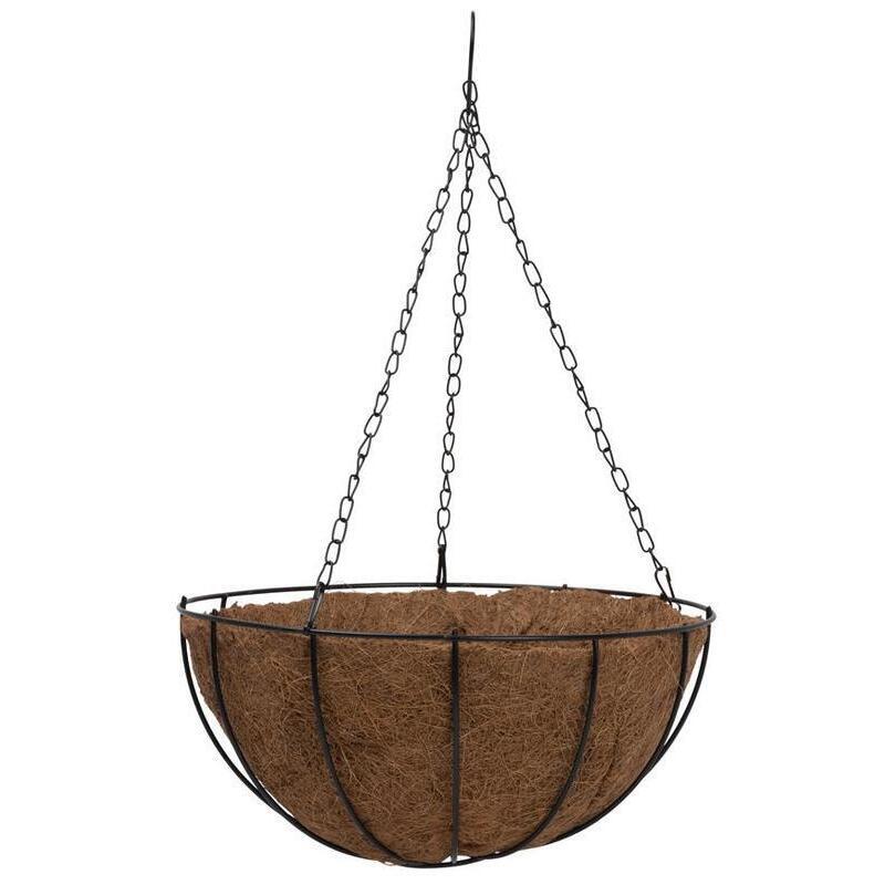 Pakabinamas vazonas su kokoso pluošto įdėklu, Ø35 cm