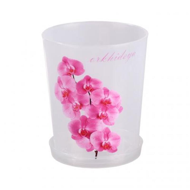 Vazonas orchidėjoms su padėkliuku 1.2 L