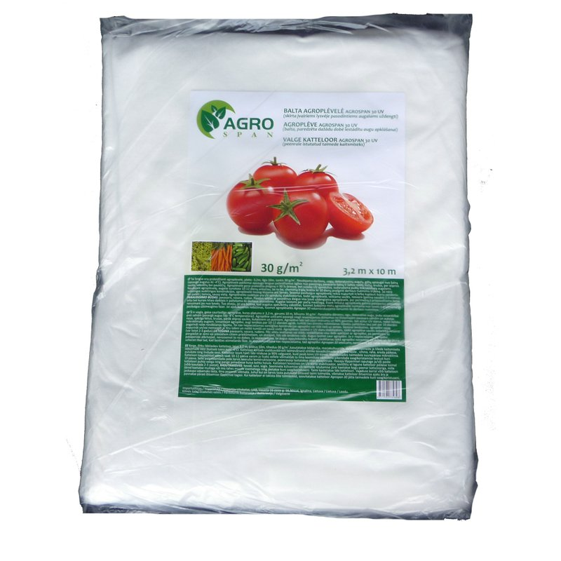 Agroplėvelė, stabilizuota 30 g/m2 | plotis 3,2 m, ilgis 10 m