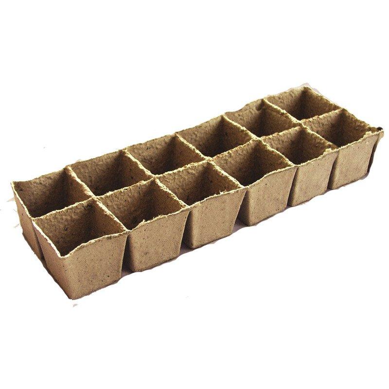 Durpinė daigykla, 12 narvelių, 6.0 x 6.0 cm