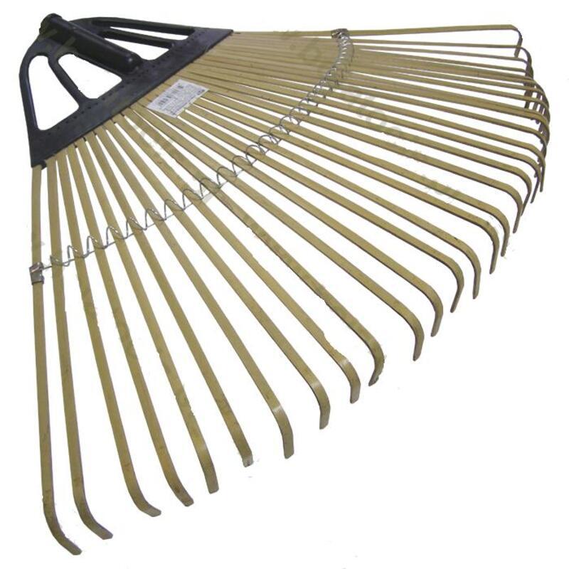 Grėblys vėduoklinis 50 cm, 33 dantys (bambukiniai plokšteliniai dantys) be koto