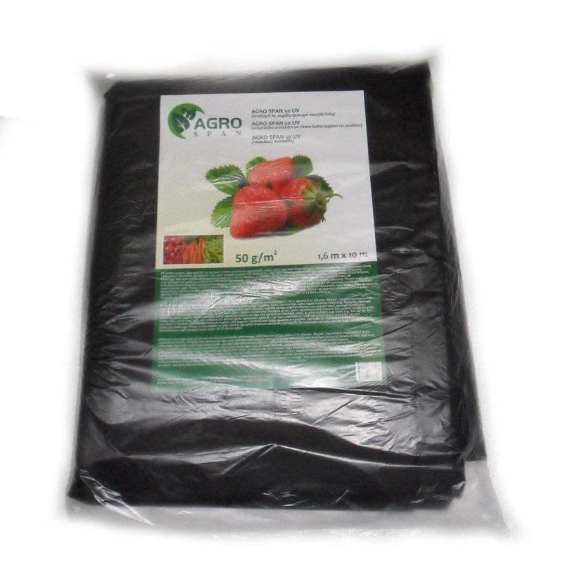 Juoda agroplėvelė, stabilizuota, mulčiuojanti 50 g/m2 | plotis 3,2 m, ilgis 10 m