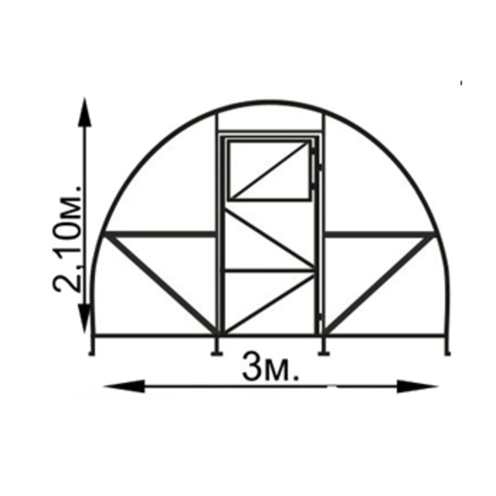 Šiltnamis UROŽAI ABSOLIUT 4x 3x 2,1 m